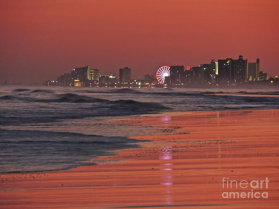 myrtle beach sunset landscape photograph by eve spring