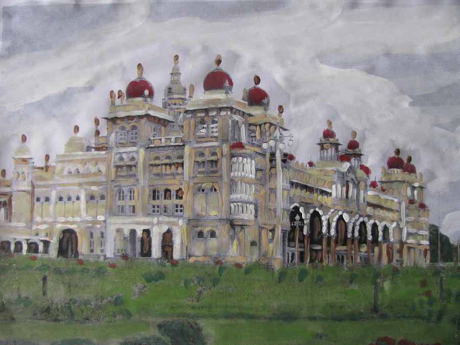 Mysore Painting - Mysore Palace by Vikram Singh