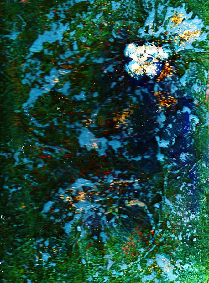 Mysterious Mixed Media - Mysterious Flower Under The Sea by Anne-Elizabeth Whiteway