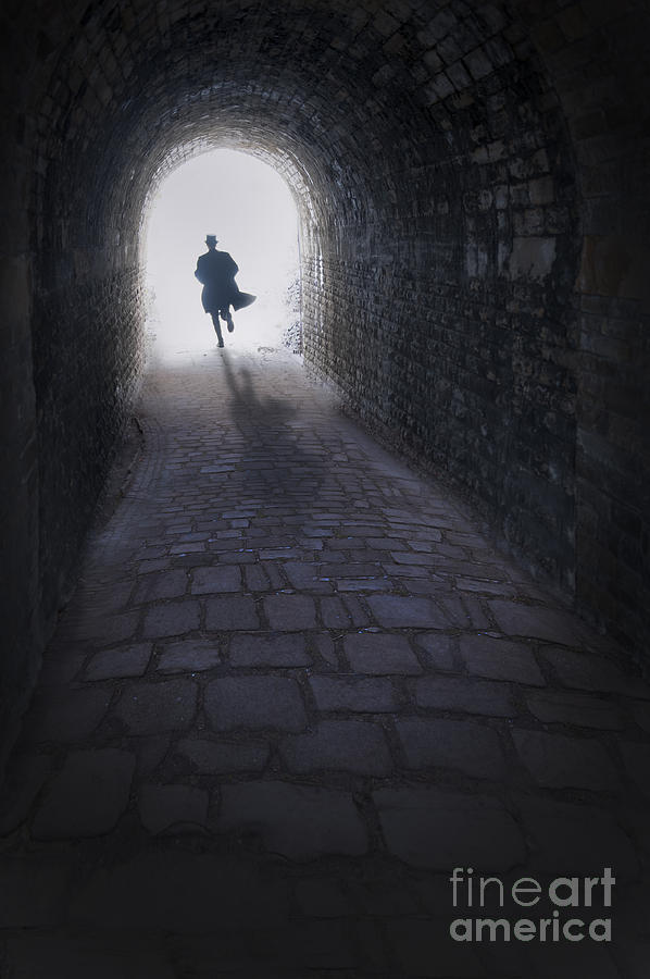 Mysterious Man Running Out Of A Tunnel Photograph By Lee