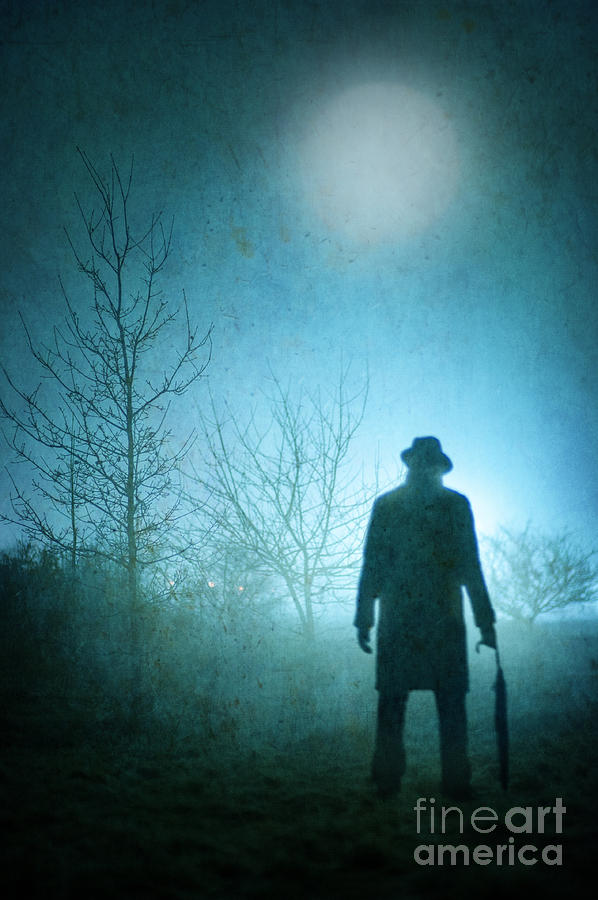 Mysterious Man Standing In Fog Photograph By Lee Avison