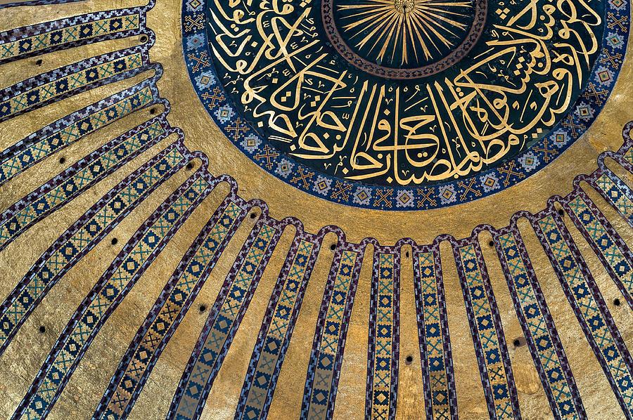 Hagia Sophia Photograph - Mysterious Sunlight In Hagia Sophia by Ayhan Altun