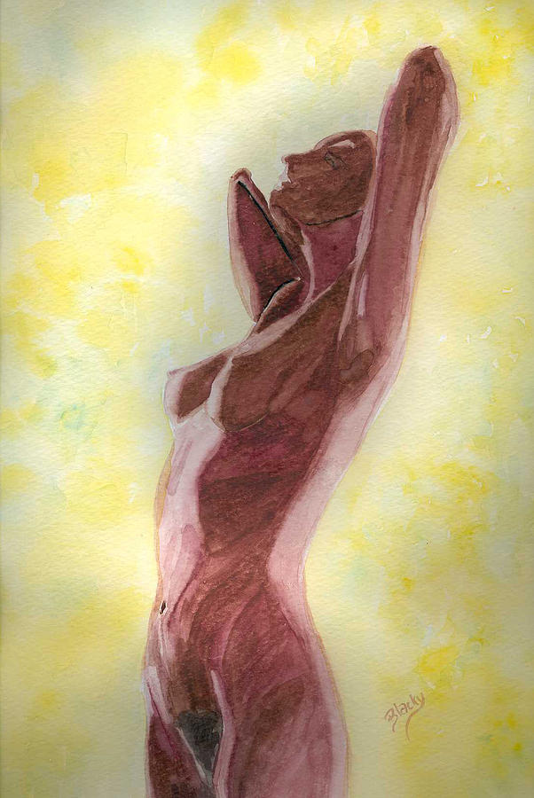 Woman Painting - Mysterious Woman by Donna Blackhall