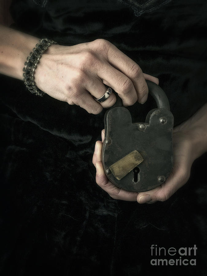 Mystery Photograph - Mysterious Woman With Lock by Edward Fielding