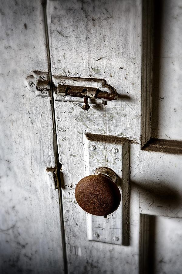 Doorknob Photograph - Mystery Door by Caitlyn  Grasso