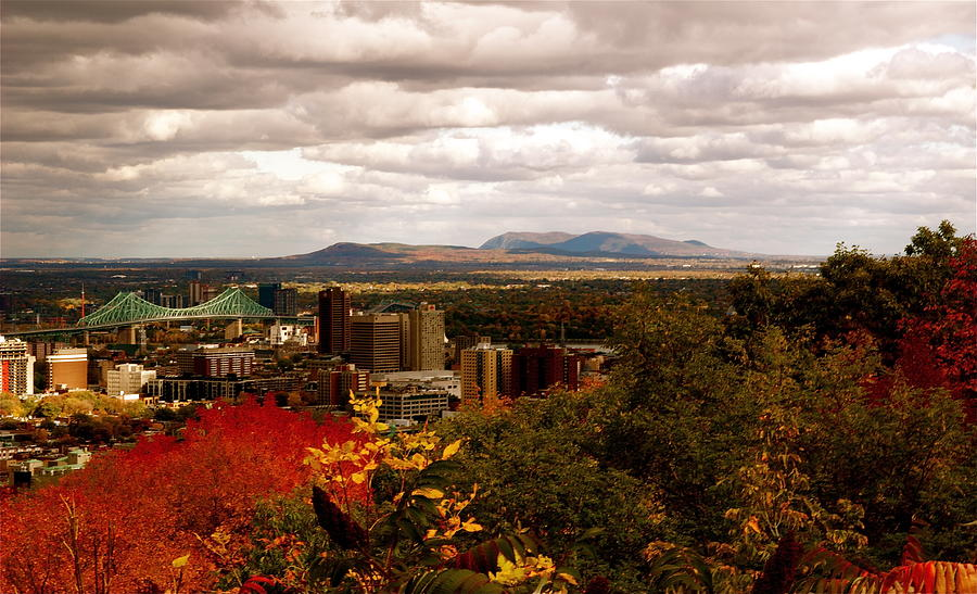 Saint-bruno Photograph - Mystery In Fall In Montreal by Jocelyne Choquette