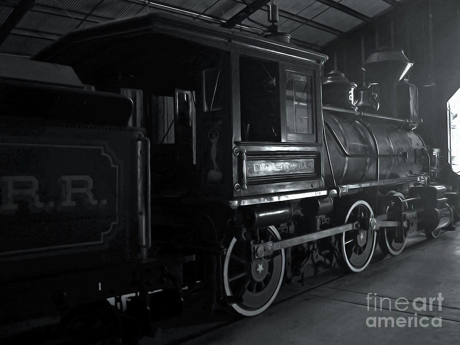 Train Photograph - Mystery Train by Gregory Dyer