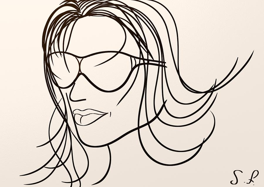 Attractive Digital Art - Mystery Woman by Sotiris Filippou