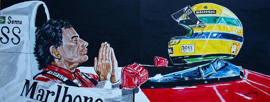 Mclaren Painting - Mystic Ayrton Senna by Juan Mendez
