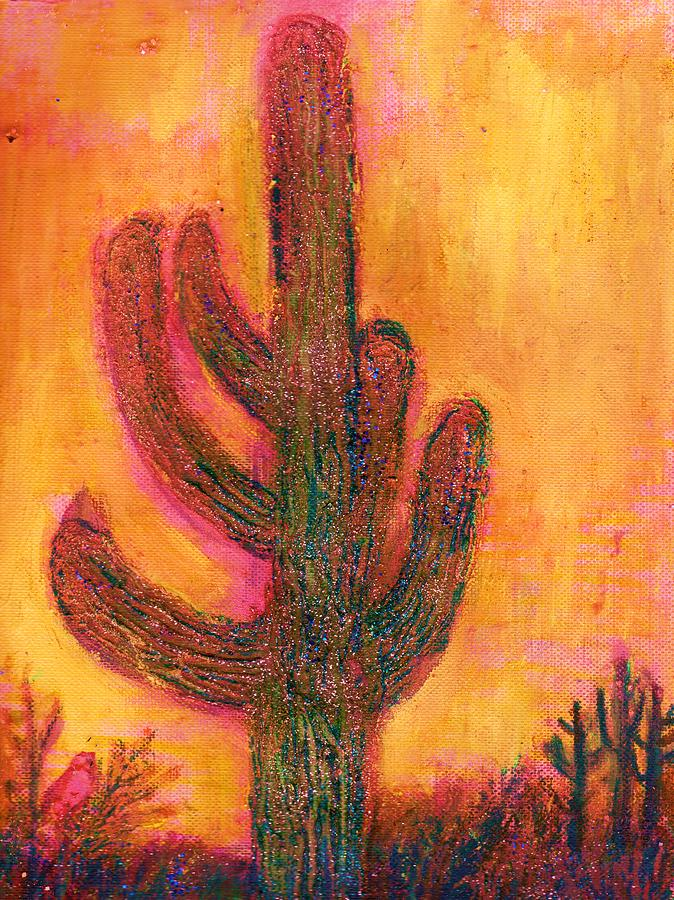 Cactus Mixed Media - Mystic Cactus by Anne-Elizabeth Whiteway
