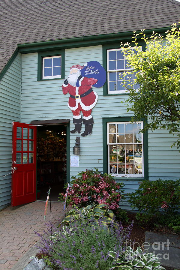 Shop Photograph - Mystic Christmas Shop - Connecticut by Christiane Schulze Art And Photography