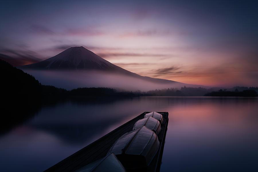 Japan Photograph - Mystic Fuji by Gerald Macua