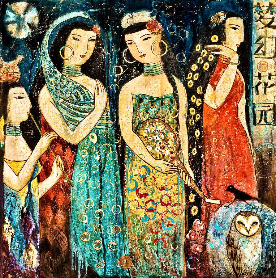 Mystic Painting - Mystic Garden by Shijun Munns