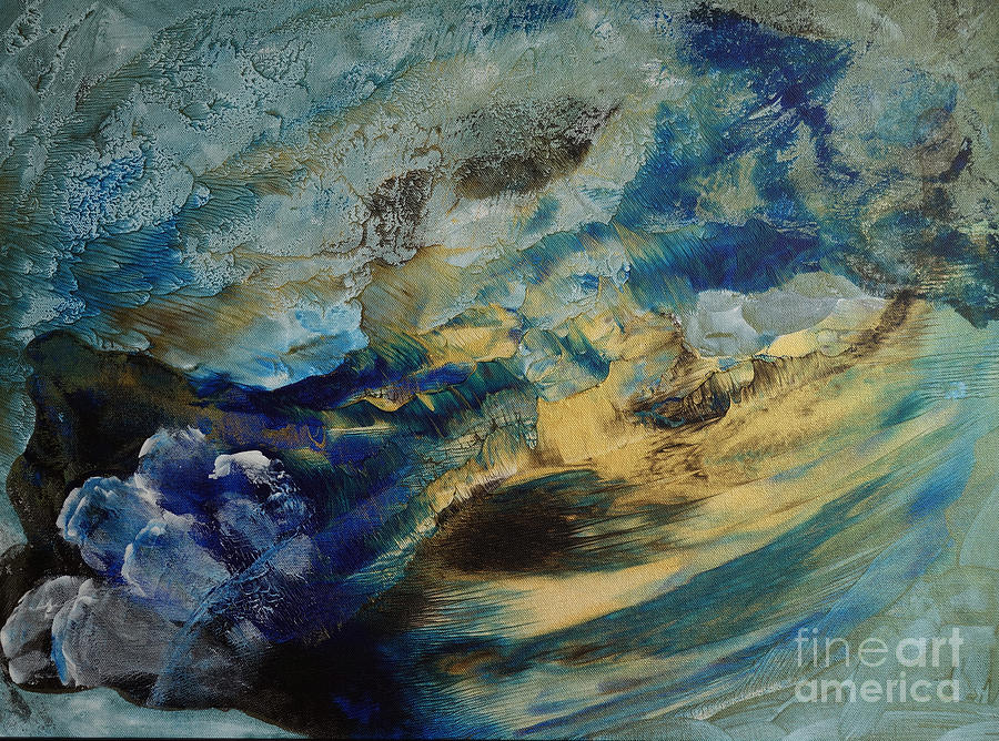 Abstract Painting - Mystic Lake by Valia US