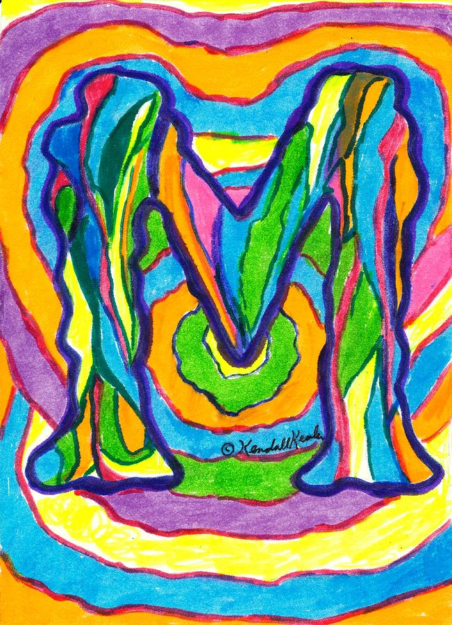 M Drawing - Mystic M by Kendall Kessler