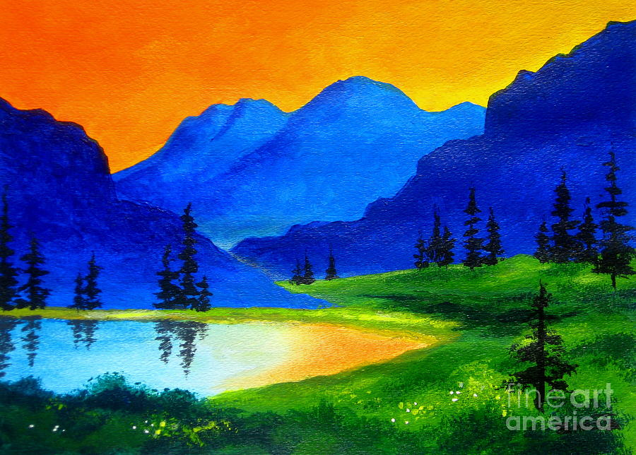 Landscape Painting - Mystic  Meadow  by Shasta Eone