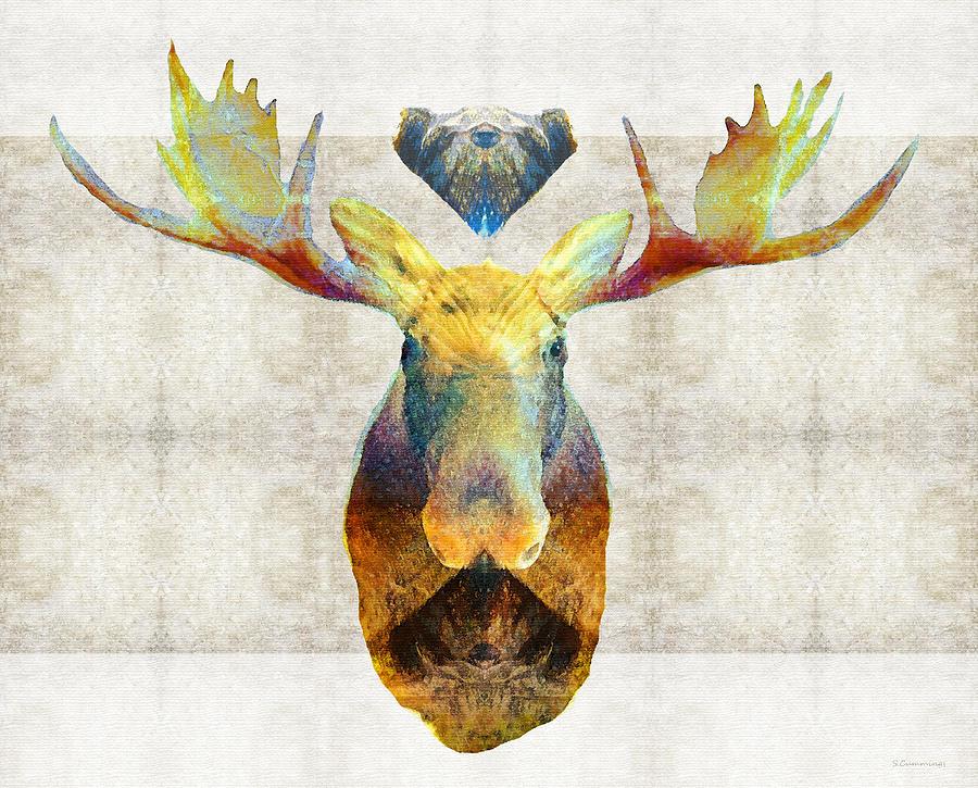 Moose Painting - Mystic Moose Art By Sharon Cummings by Sharon Cummings