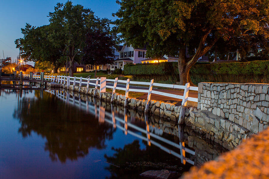 Mystic River Photograph - Mystic River Wall Reflection by Kirkodd Photography Of New England