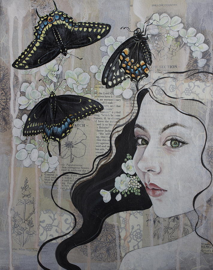 Swallowtail Painting - Mystic by Sheri Howe