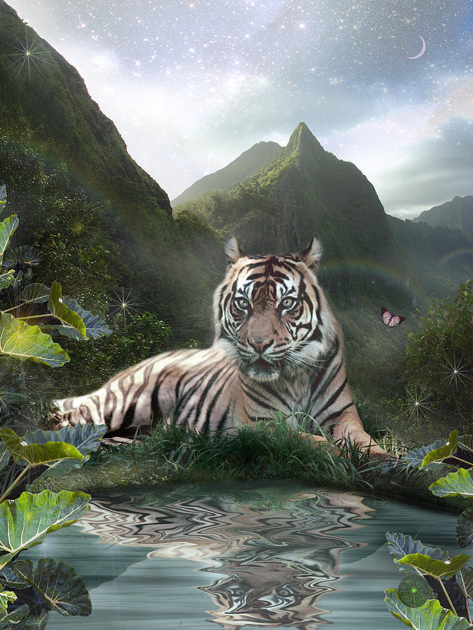 Fantasy Photograph - Mystic Tigress by Alixandra Mullins