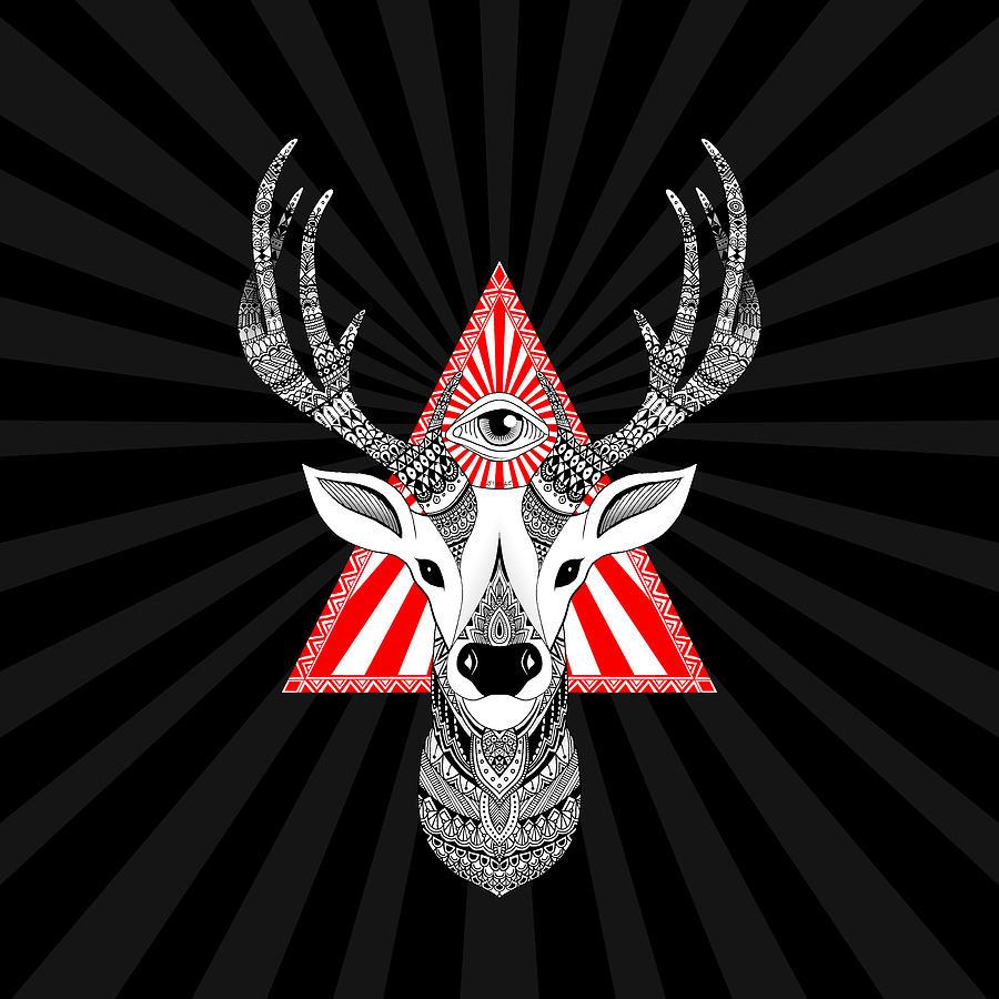 Deer Digital Art - Mystical Deer by Art Et Be