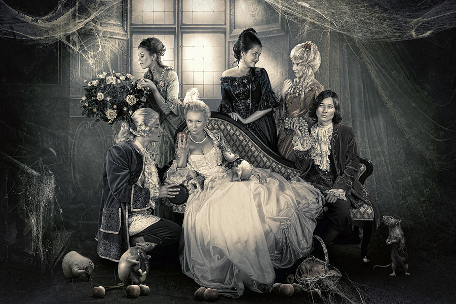 Family Photograph - Mystical Family by Cindy Grundsten