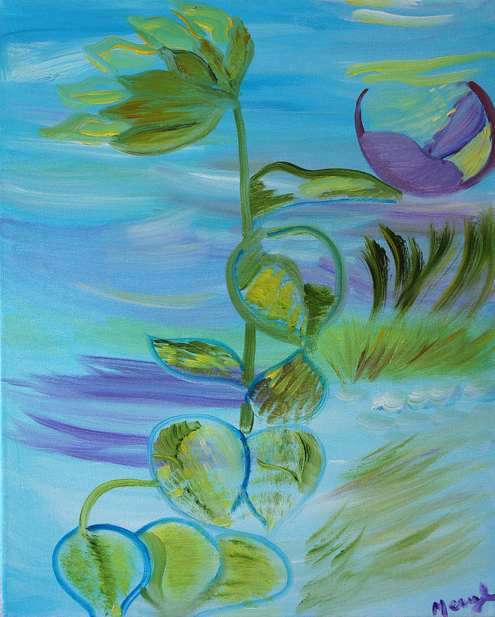 Blue Painting - Mystical Moods by Meryl Goudey