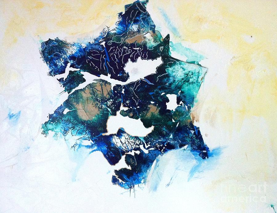 Jewish Star Painting - Mystical Star David by Tonya Mower Zitman