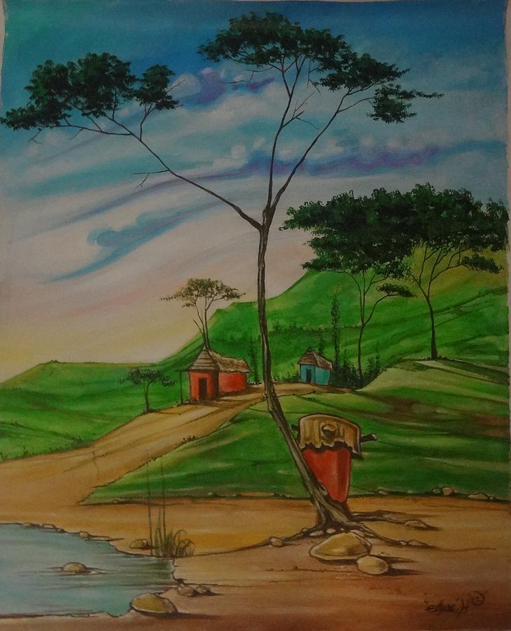 Mystic Painting - Mystical Village by Assaph