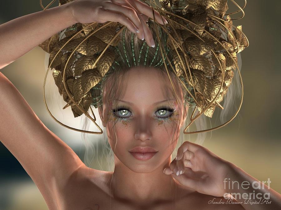 Mythos Digital Art - Mythos by Sandra Bauser Digital Art