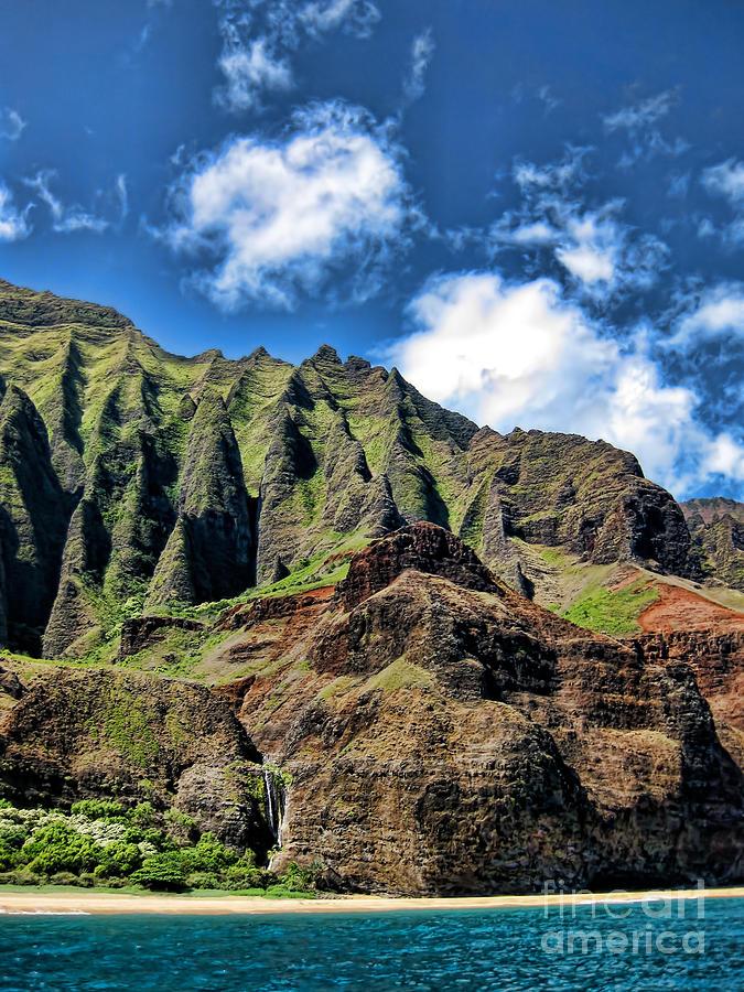 Kauai Photograph - Na Pali Coast 1 by Baywest Imaging