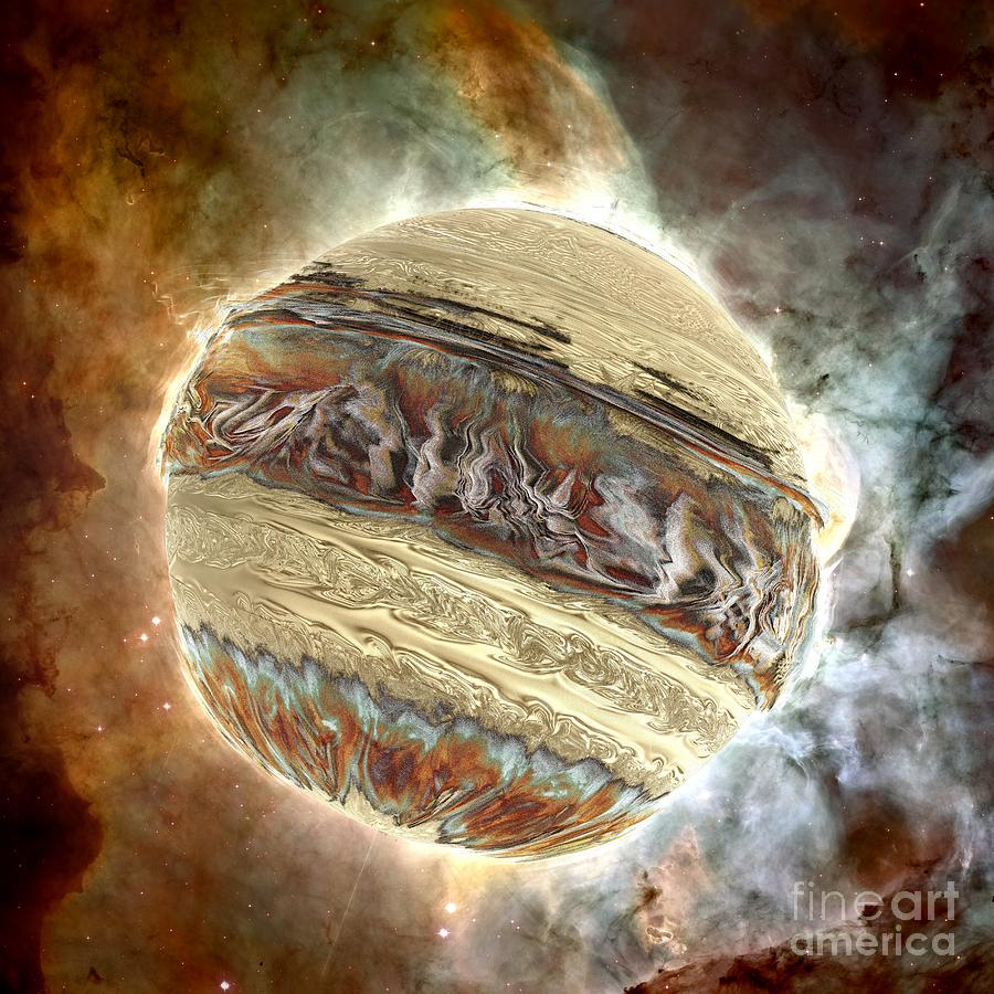 Digital Digital Art - Nacre Planet by Bernard MICHEL