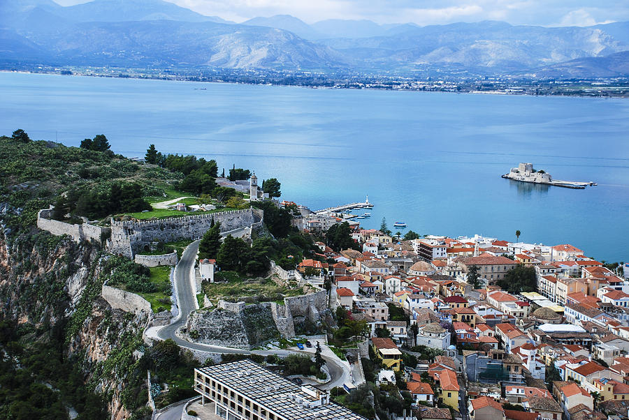 Nafplio Photograph - Nafplio And Argolic Gulf by David Waldo
