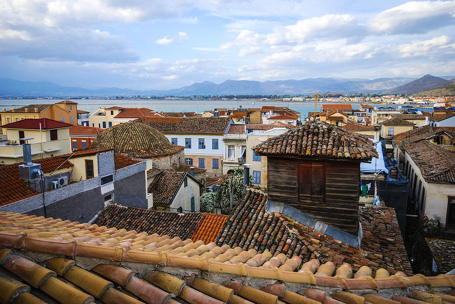 Nafplio Photograph - Nafplio Rooftops by David Waldo