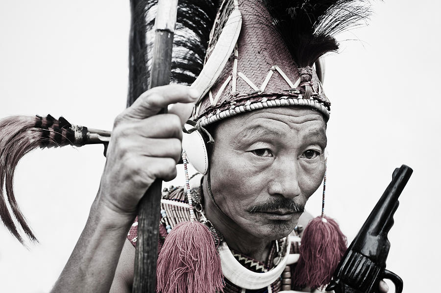Naga Tribal Warrior In Traditional Photograph by Exotica.im