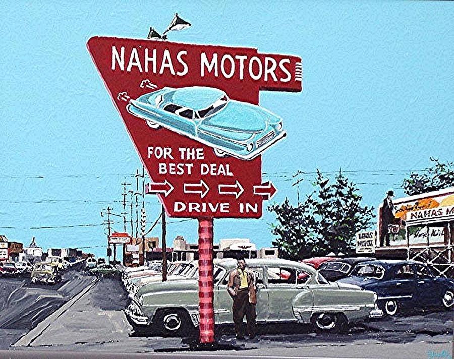 Sacramento Painting - Nahas Motors by Paul Guyer