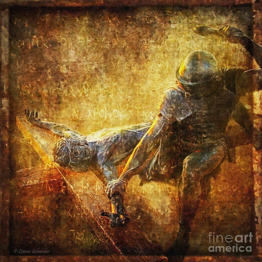 Jesus Photograph - Nailed To The Cross Via Dolorosa 11 by Lianne Schneider