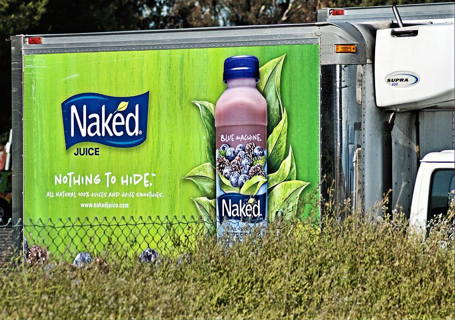 Advertising Photograph - Naked Juice - Nothing To Hide by Bob Wall