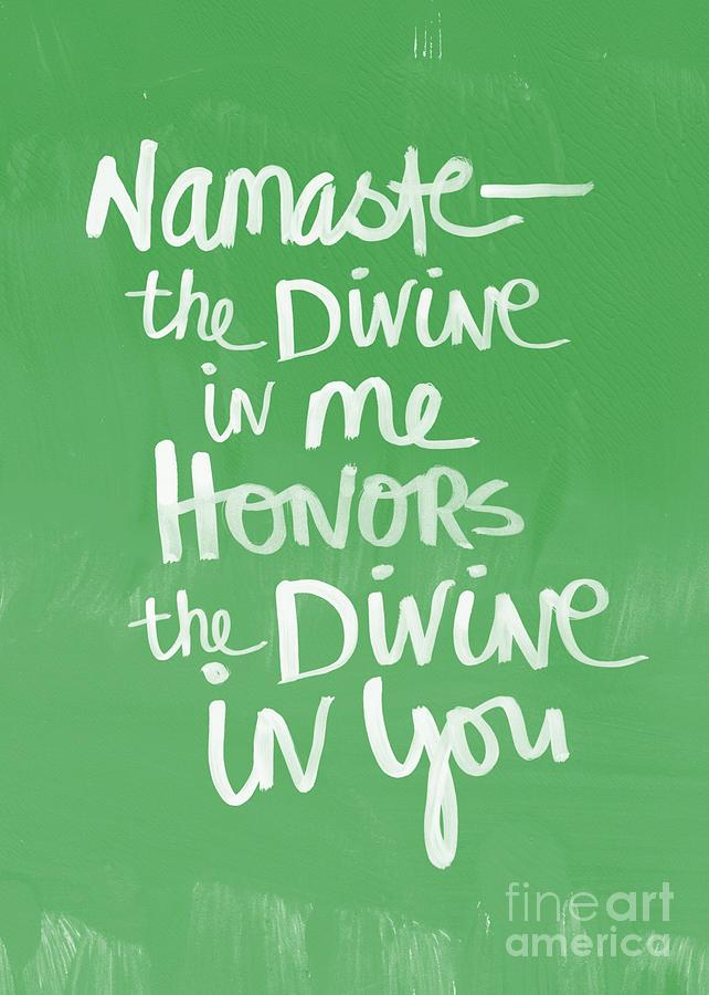 Namaste Painting - Namaste Card by Linda Woods