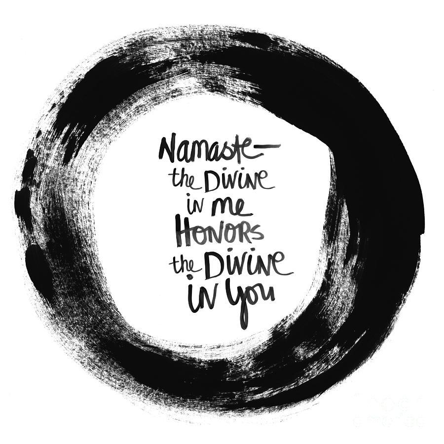 Circle Painting - Namaste Enso by Linda Woods