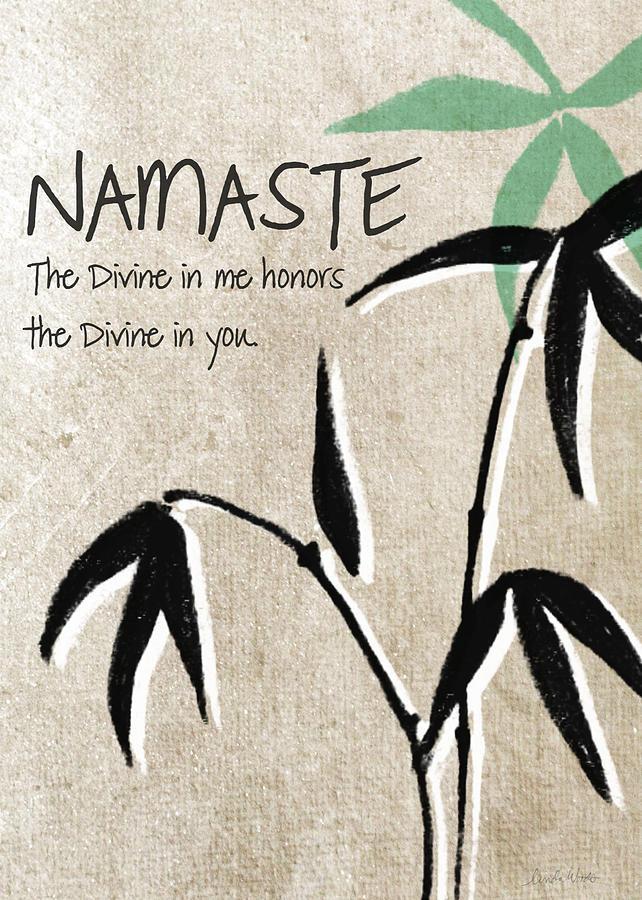 Namaste Greeting Card Painting