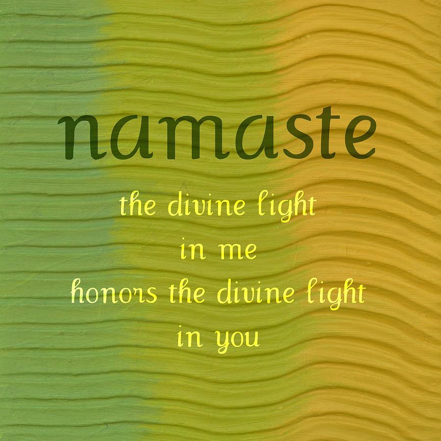 Namaste Painting - Namaste by Michelle Calkins