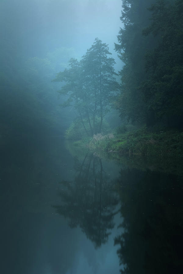 Autumn Photograph - Nameless Lake by Milos Lach