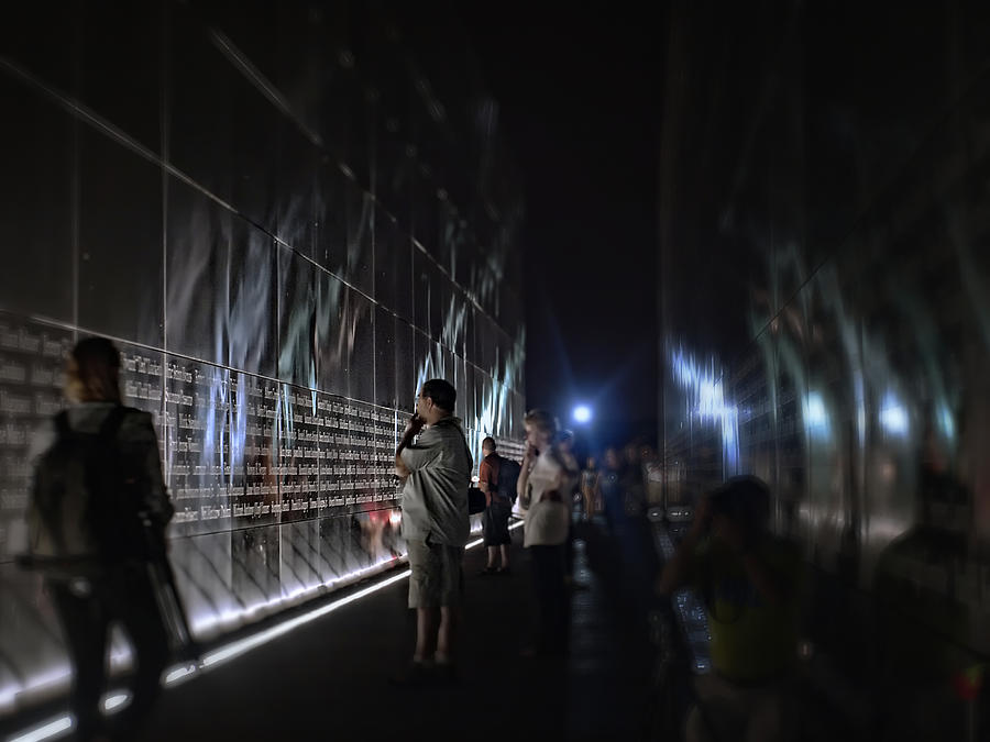 911 Photograph - Names On The Wall by Wayne Gill