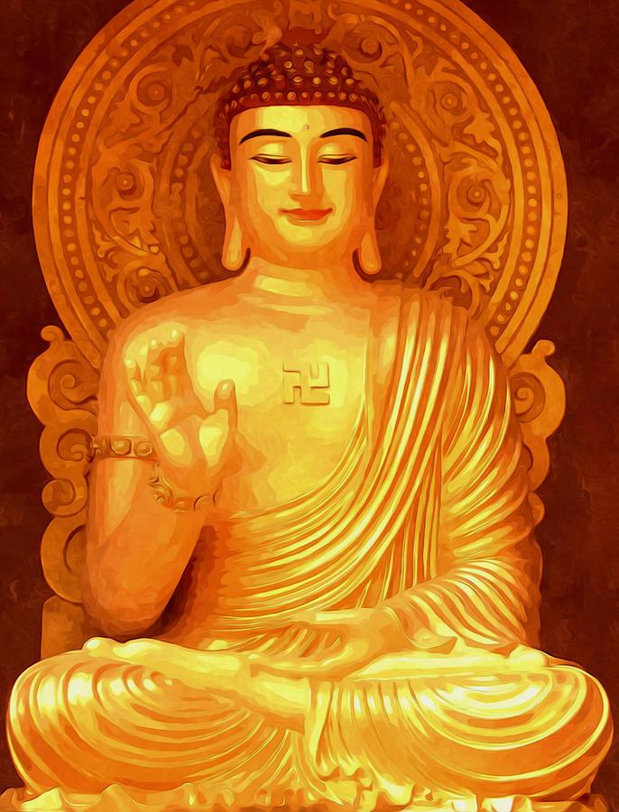 Buddha Painting - Namo Amitabha Buddha 36 by Lanjee Chee