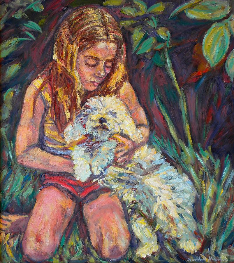 Girl Painting - Nan And Beau by Kendall Kessler