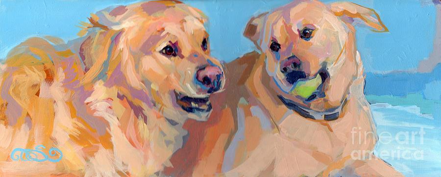 Yellow Lab Painting - Nana Nana Na Na by Kimberly Santini