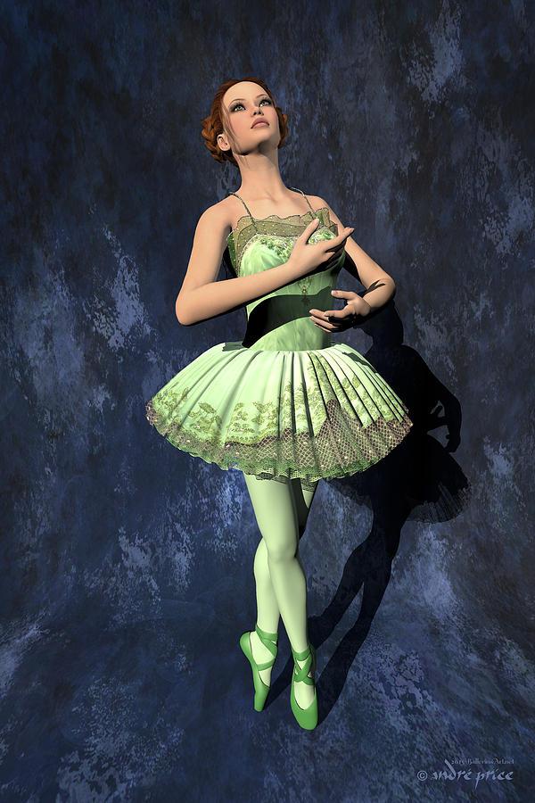 Prima Ballerina Digital Art - Nanashi - Ballerina Portrait by Andre Price