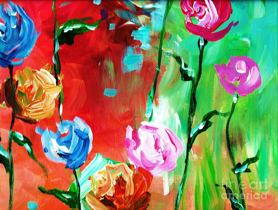 Nancys Flowers Painting