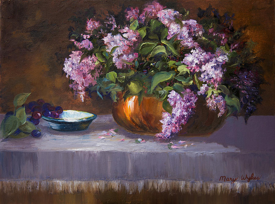 Lilacs Painting - Nancys Reverie by Mary Beglau Wykes